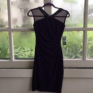 Ralph Lauren, Deep Purple Cocktail Dress!! NWT